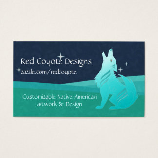 Turquoise Coyote Business Card
