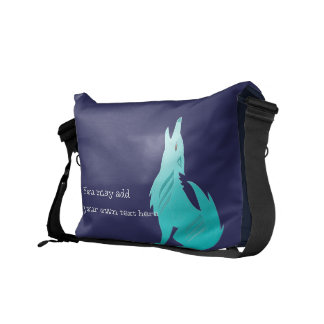 Turquoise Coyote Messenger Bag