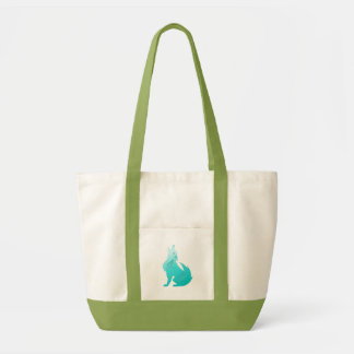 Turquoise Coyote Tote Bag