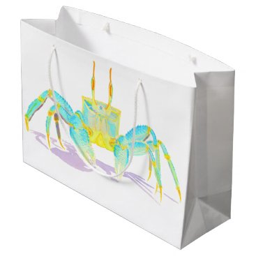 Beach Themed Turquoise Crab Large Gift Bag