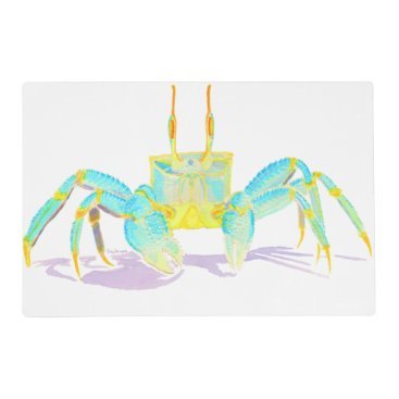 Beach Themed Turquoise Crab Placemat