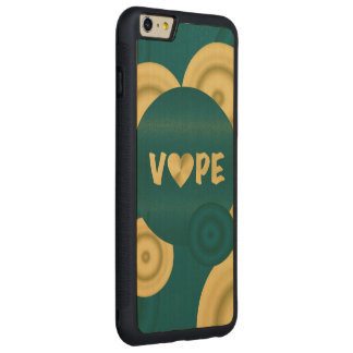 Turquoise Creamy 3D  Vape Heart Carved Maple iPhone 6 Plus Bumper Case