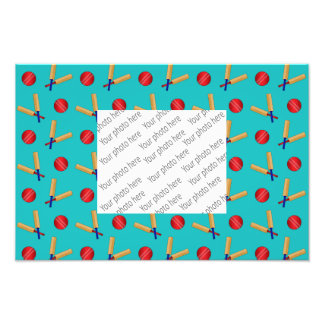 Turquoise cricket pattern photographic print