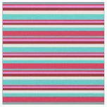 [ Thumbnail: Turquoise, Crimson, Violet, Dark Red, and White Fabric ]