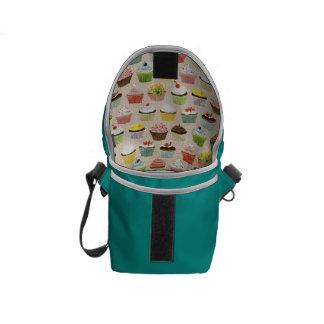 Turquoise Cupcake Messenger Bag