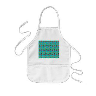 Turquoise cupcake pattern kids' apron