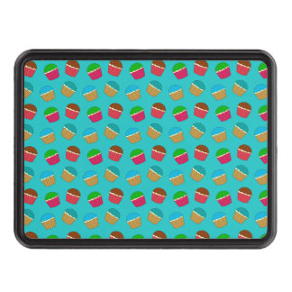 Turquoise cupcake pattern tow hitch cover