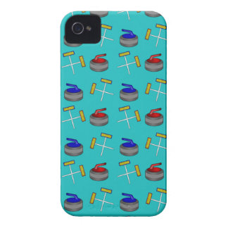 turquoise curling pattern iPhone 4 Case-Mate cases