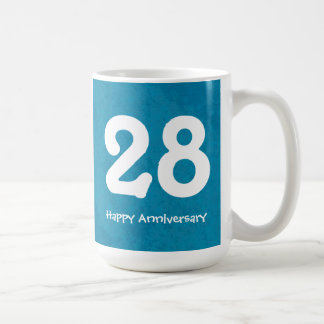 Turquoise Customizable Numbered Anniversary Mug