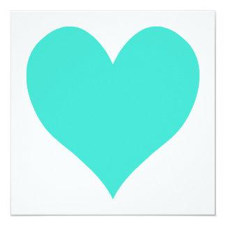 Turquoise Cute Heart Card