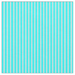 [ Thumbnail: Turquoise & Cyan Colored Lines Pattern Fabric ]