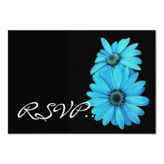 Turquoise Daisies RSVP Wedding Response Card V2