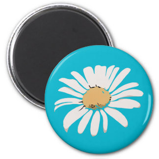 Turquoise Daisy Floral Magnet