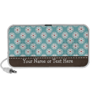 Turquoise Daisy Portable Doodle Speakers Personali