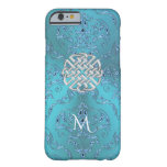 Turquoise Damask Celtic Knot Barely There iPhone 6 Case
