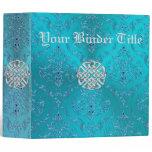 Turquoise Damask Celtic Knot Binder