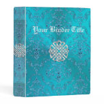 Turquoise Damask Celtic Knot Mini Binder