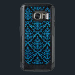 "Turquoise Damask on Black Otterbox Cell Phone Case<br><div class=""desc"">Turquoise Damask on Black Otterbox Cell Phone Case.</div>"