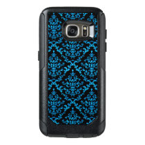 Turquoise Damask on Black Otterbox Cell Phone Case
