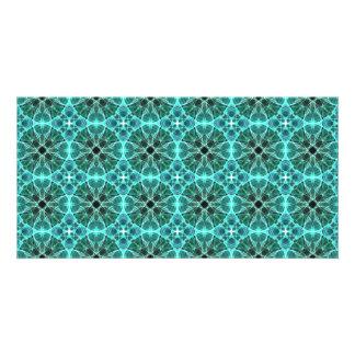 Turquoise damask pattern card