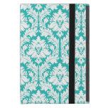Turquoise Damask Pattern Case For iPad Mini