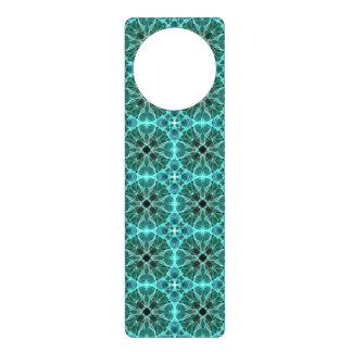 Turquoise damask pattern door hanger