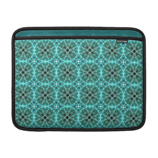 Turquoise damask pattern MacBook air sleeve