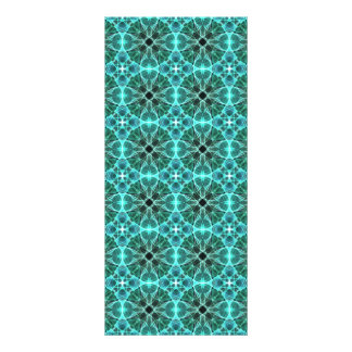 Turquoise damask pattern rack card template