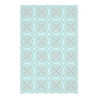 Turquoise damask pattern stationery