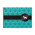 Turquoise damask unicorn iPad mini cover