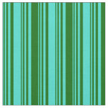 [ Thumbnail: Turquoise & Dark Green Colored Pattern Fabric ]
