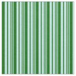 [ Thumbnail: Turquoise & Dark Green Pattern Fabric ]