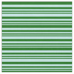 [ Thumbnail: Turquoise & Dark Green Striped/Lined Pattern Fabric ]