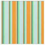 [ Thumbnail: Turquoise, Dark Orange, Dark Cyan & Light Green Fabric ]