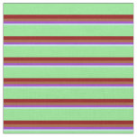 [ Thumbnail: Turquoise, Dark Orchid, Sienna, Dark Red & Green Fabric ]