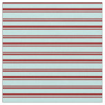 [ Thumbnail: Turquoise & Dark Red Lined/Striped Pattern Fabric ]