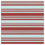 [ Thumbnail: Turquoise & Dark Red Lines Fabric ]