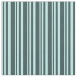 [ Thumbnail: Turquoise & Dark Slate Gray Colored Pattern Fabric ]