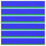 [ Thumbnail: Turquoise, Dark Turquoise, Green & Blue Pattern Fabric ]