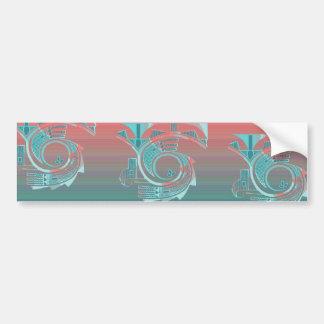 Turquoise Dawn Bumper Sticker Car Bumper Sticker