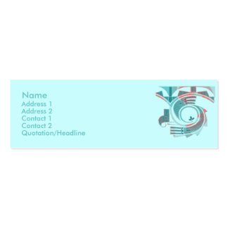 Turquoise Dawn Profile Cards Double-Sided Mini Business Cards (Pack Of 20)