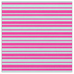 [ Thumbnail: Turquoise & Deep Pink Stripes Fabric ]