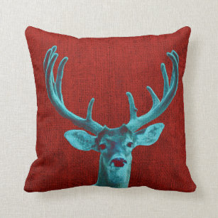 Turquoise And Red Pillows Decorative Throw Pillows Zazzle