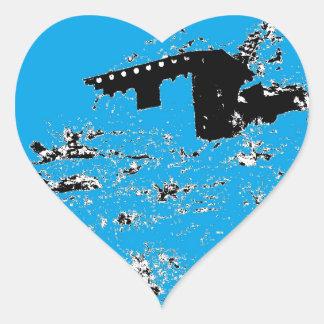 Turquoise Desert Hut Heart Sticker