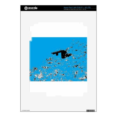 Turquoise Desert Hut Skins For iPad 3