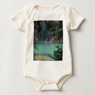 Turquoise Devils Lake, Oregon Baby Bodysuit