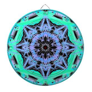 Turquoise Diamond Geometric Abstract Art Darts Dart Board