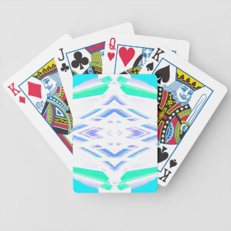 Turquoise Diamond Geometry Abstract Art Bicycle Card Deck