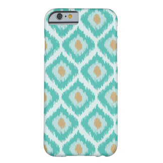 Turquoise Diamond Ikat Pattern Barely There iPhone 6 Case