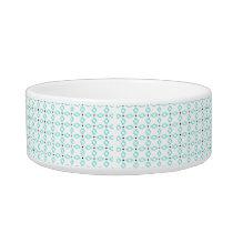 Turquoise Diamond Pet Bowl